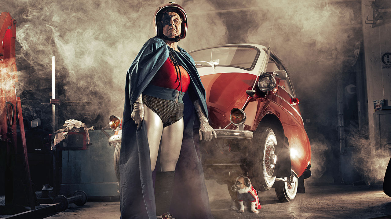 Photographer Turns His Grandmother Into a Not-Yet-Retired Superhero