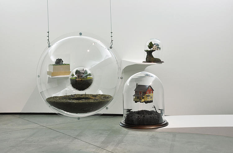 <p>Artist Thomas Doyle seals phantasmagoric worlds under glass where the laws of physics have broken down along with civilization.</p>