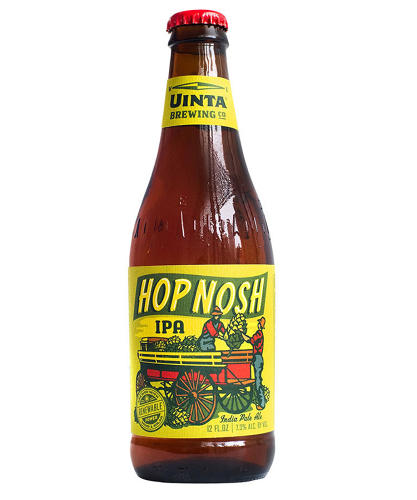 <p>Of Uinta's Hop Nosh IPA, Glaser says, &quot;This is a little bit like a label produced during the '30s . . . if my theory about creating affection is true, then that may be enough of an imperative to buy this beer.&quot;</p>