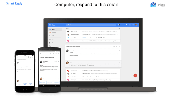 "Smart Reply in ""Inbox by Gmail"""