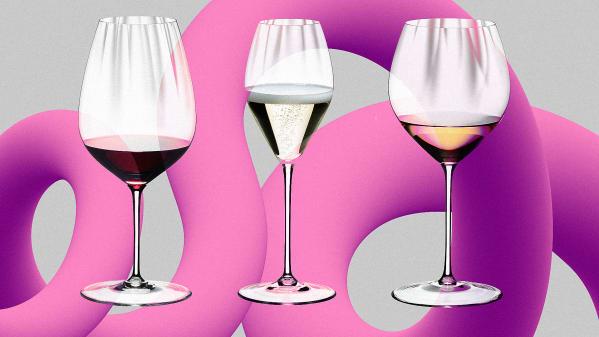 Tasteful wine glasses