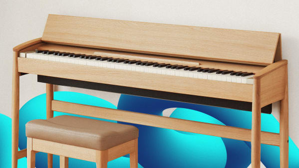 A piano that looks like modern furniture