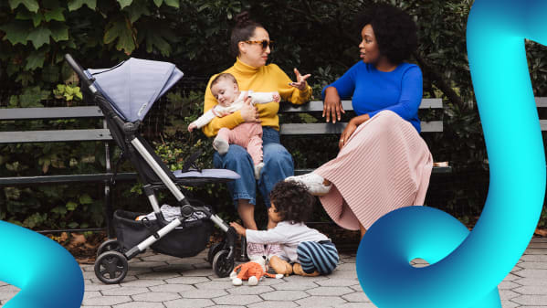 A stylish, fold-up stroller