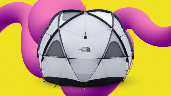 A geodesic dome for roughing it