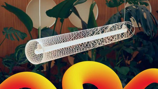 A lamp built by a flawed robot