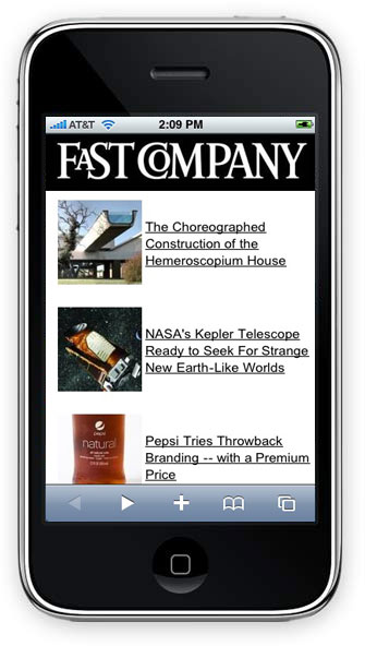 Fast Company iPhone