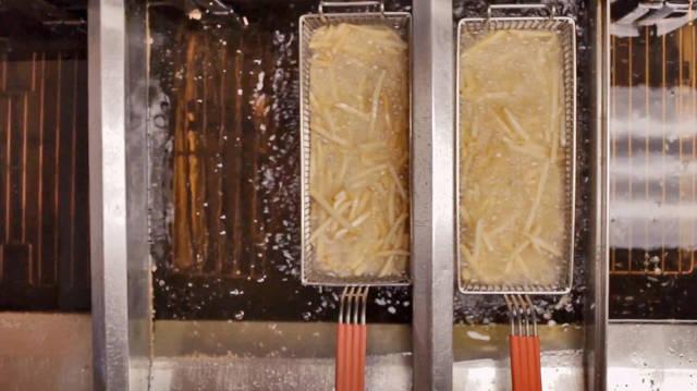 Can children work around grills and deep fryers