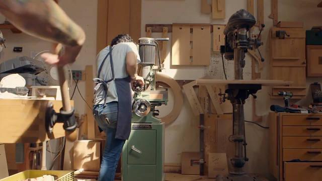 Beautiful Women Woodworking Now An Through Time