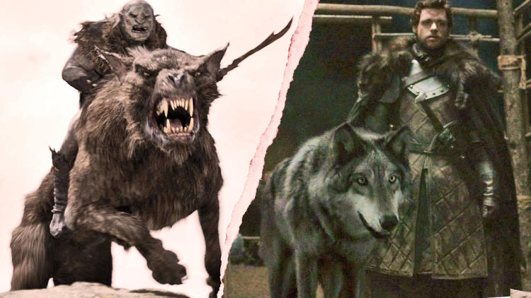 <p>Winner: Wargs.<br /> Since wargs are evil hybrid wolves in Tolkien's tales, they could probably make short work of the direwolves, who seem to be far less clever animals.</p>