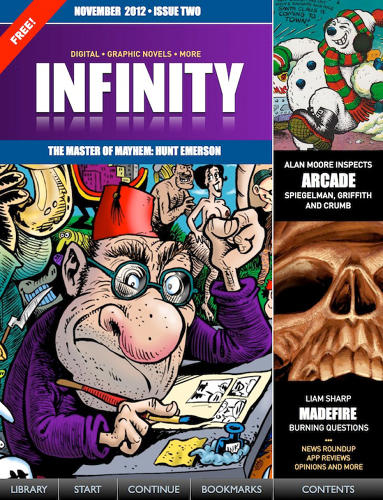 <p>You know a trend is real when it goes meta. Veteran publisher Russell Willis revived <a href=&quot;https://itunes.apple.com/gb/app/infinity-digital-graphic-novels/id540599442?mt=8&quot; target=&quot;_blank&quot;>Infinity</a>, a legendary '80s zine covering mostly British comics, as an original-content iPad app dedicated to the expanding digital comics scene. His company, Panel Nine, has also brought out reprints of some alt-comics classics in digital format.</p>