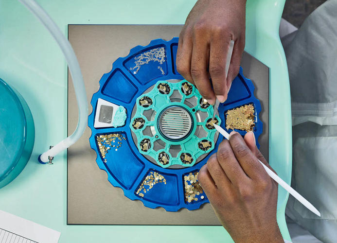 <p>Assembling watches at Shinola</p>