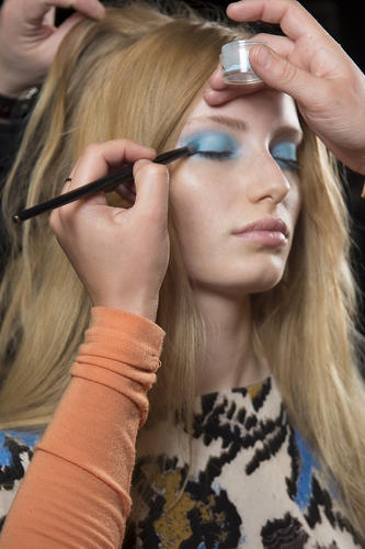 <p>Viewers could buy the makeup right off the model's faces as the show streamed live on Topshop's website.</p>