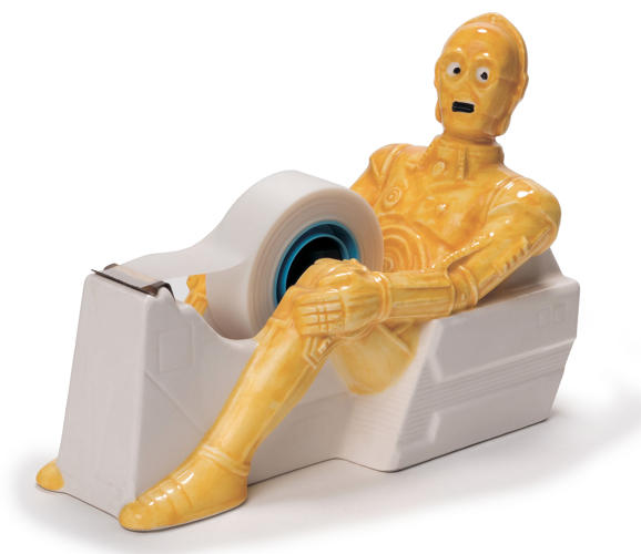 <p>This C-3PO tape dispenser is from a Japanese ceramics line around 1983. It needs little comment.</p>