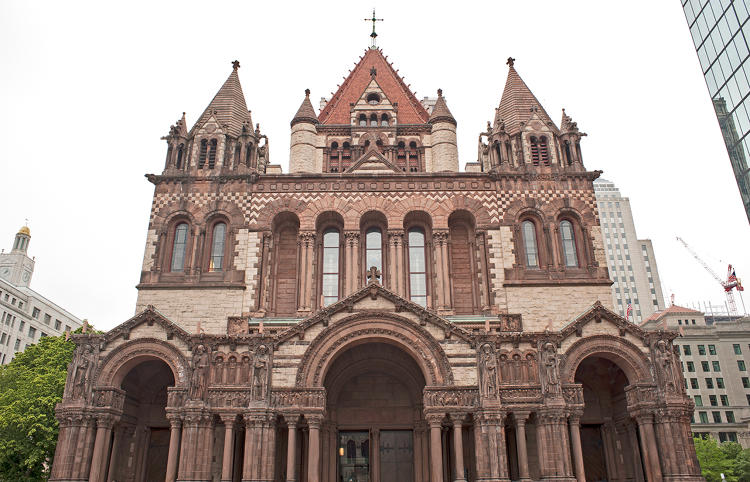 "<p>Trinity was the first example of architect H.H. Richardson's Romanesque style, later used in churches, city halls, and county courthouses across America. It was designed as ""an envelope"" for the voice of Rector Phillips Brooks (best known as the writer of &quot;O Little Town of Bethlehem&quot;).</p>"