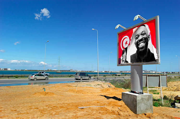 <p>Tunisia, ex-Ben Ali billboard on La Goulette Road, 2011</p>