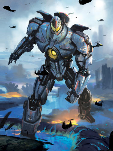<p>The United States's Gipsy Danger: concept drawing</p>