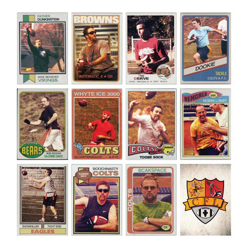 <p>Ryan Lents created 1970s-era trading cards for his CFL Fantasy League.</p>