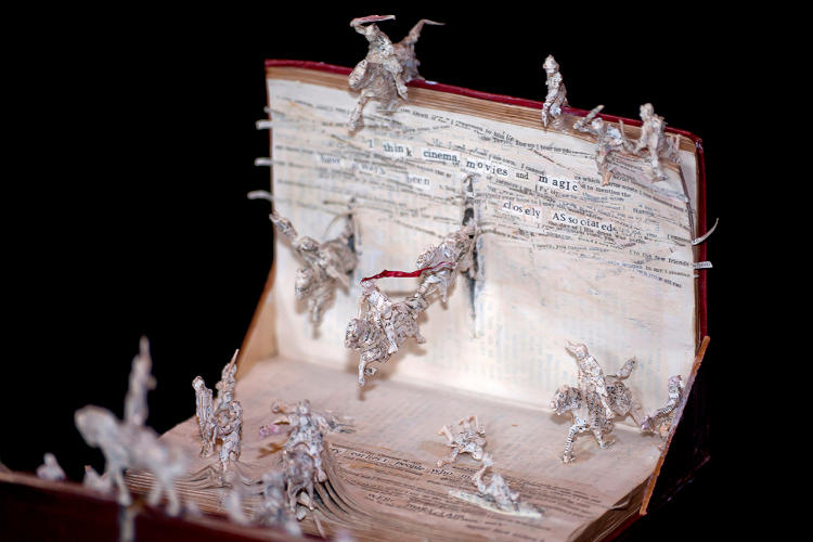 <p>Over the course of eight months, from March to November 2011, the artist known as Anonymous produced 10 small book sculptures. Each was smuggled into cultural venues around Edinburgh. Blogger Chris Scott photographed each sculpture as it appeared. Scott and &quot;Anonymous&quot; have never met.</p>