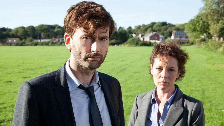 <p>Detectives Ellie Miller (Olivia Colman) and Alec Hardy (David Tennant) try to figure out who killed an 11-year old boy.</p>