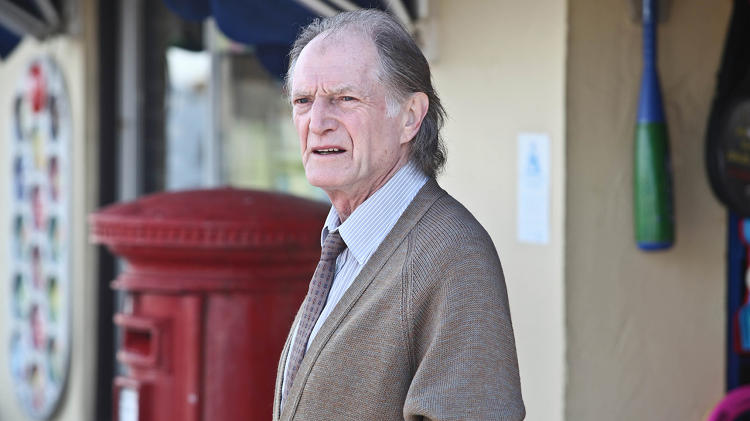 <p>Shop owner Jack Marshall (David Bradley) has a secret past.</p>
