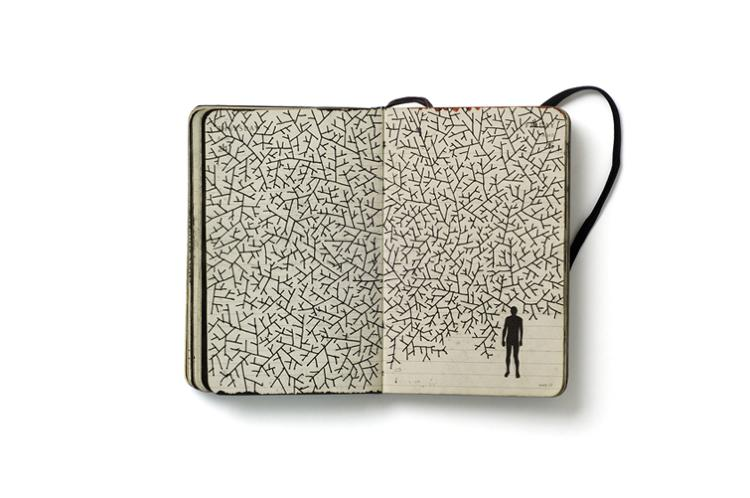 <p>Pep Carrió, a Spanish graphic designer, began to work on these diaries in 2007 as a project to create an image every day. Carrió says that his books are &quot;a portable laboratory, where I can work with difference ideas and found images.&quot;</p>