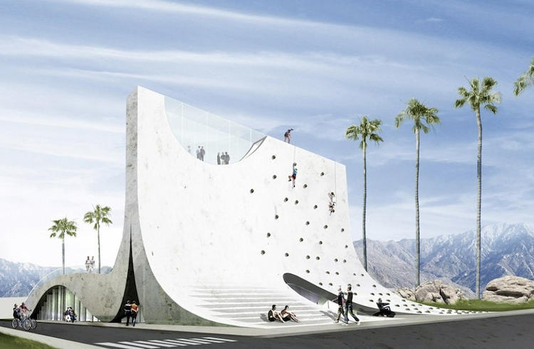 <p>BOOM! Hollwich Kushner's dramatic climbing wall challenges the ability of aging residents.</p>