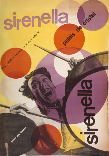 <p>Max Huber's iconic 1946 Sirenella poster for the opening of a new ballroom.</p>