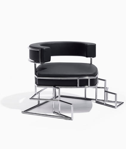 <p>Torq arm-rest chair by Daniel Libeskind for Sawaya &amp; Moroni (2010).</p>