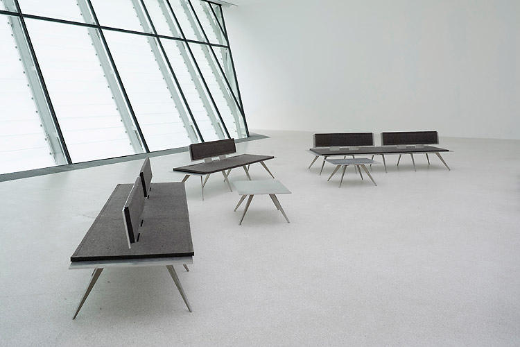 <p>Sarn benches and tables by German architects Krüger Schuberth Vandreike (2008).</p>