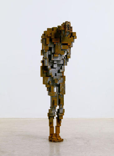 <p>Also by Gormley, this sculpture is part of a larger series called Constructed Ataxia. &quot;Ataxia&quot; is a degenerative neurological disorder characterized by a progressive loss of coordination and self-awareness. &quot;Each of the architecturally designed cast iron blocks in the series features a body frozen in a particular pose, implying a transient psycho-physical state,&quot; the catalog says.</p>