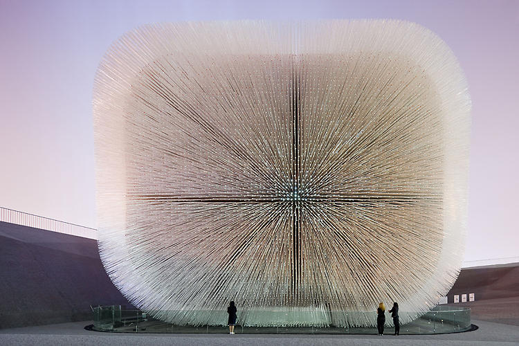 <p>Heatherwick  stole the show at last year's World Expo in Shanghai with this striking pavilion, which was variously compared to a Koosh ball and that scary dude from Hellraiser. Called the Seed Cathedral, it was constructed from 60,000 transparent 24-foot-long optical strands.</p>