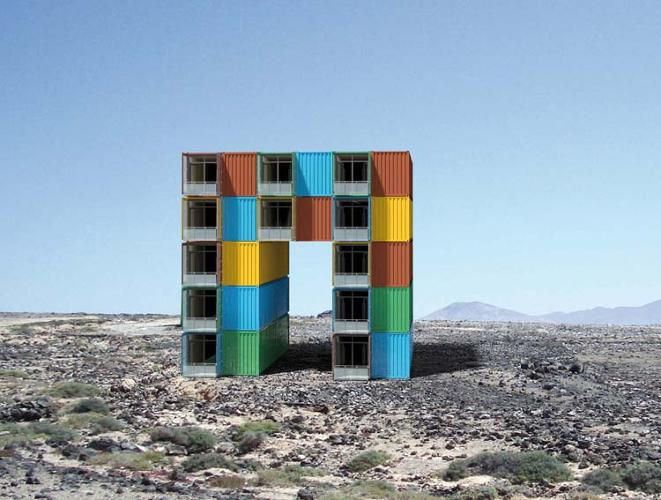 <p>Uwe Harzer conceived of a design for converting containers into a residential apartment building in 2010.</p>