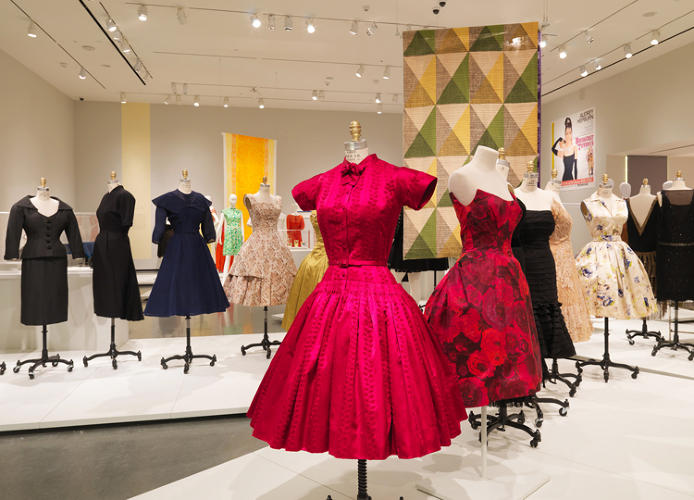 <p>The exhibition includes a vast array of dresses, from the century's major designers.</p>