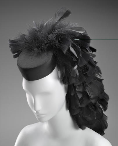 <p>Balenciaga cocktail hat, circa 1963</p>
