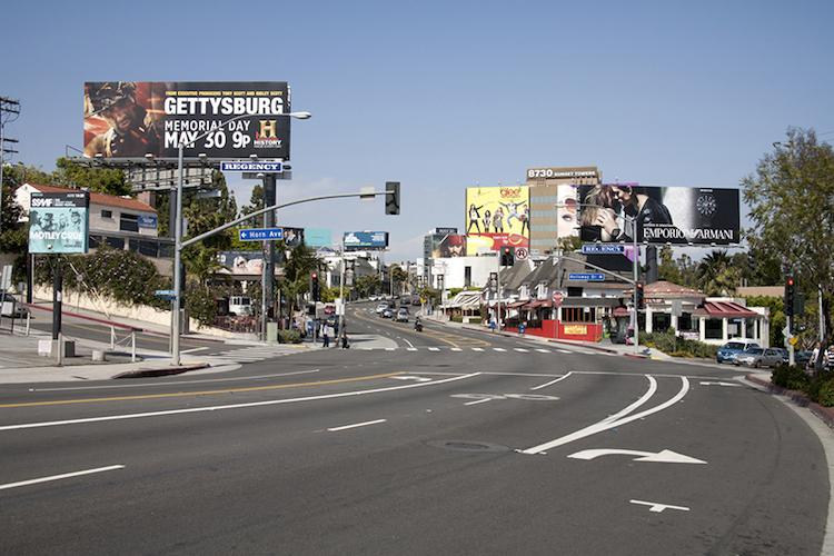 <p>The storied Sunset Strip, which hugs the Santa Monica Mountains in West Hollywood.</p>