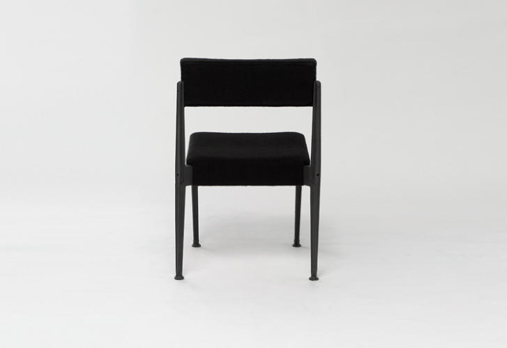 <p>The Cast Chair has cast iron legs that are bolted to the seat and back components made from slabs of thick foam. All the parts fit into the seat, allowing it to be shipped in a small package.</p>