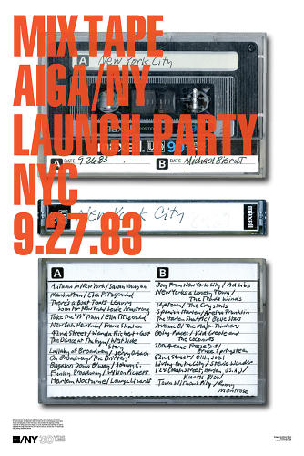<p><a href=&quot;http://www.etsy.com/listing/97018227/michael-bierut-signed-aigany-30th&quot; target=&quot;_blank&quot;>Michael Bierut's</a> mixtape contribution.</p>