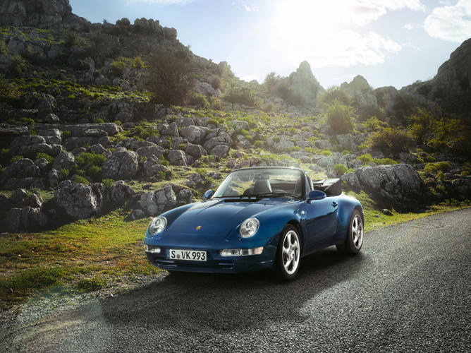 <p>The 993 Cabriolet, from 1994.</p>