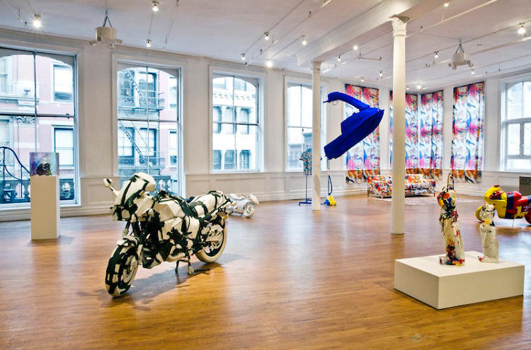 <p>For a weekend in May, SoHo gallery American Medium was filled with couches, motorcycles, and jetski airbrushed in works by Barnett Newman, Yves Klein, and David Hockney.</p>
