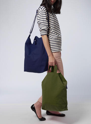 <p>Sugihara initially wanted to make the bags in the United States, but she soon realized that she would have to sell them for upwards of $30, so she settled on manufacturing the bags in China. The grocery bags now sell for $8 apiece.</p>