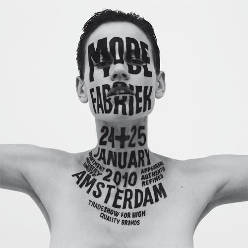 <p>Lettering for Modefabriek, Amsterdam, offset print, 2010. Photography by Philippe Vogelenzang.</p>