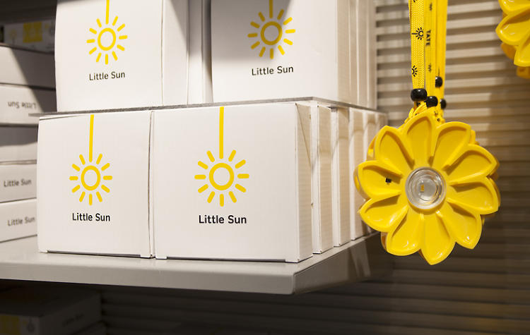 <p>The Little Sun is a solar-powered light backed by a humanitarian business model.</p>