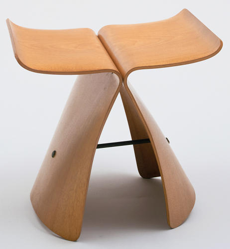 <p>The Butterfly Stool by Japanese industrial designer Sori Yanagi.</p>