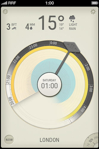 <p>15° all day, raining all day. Note: A new day starts at 0:00 rather than looping the weather.</p>