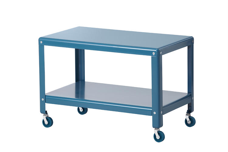 "<p>""Tea trolleys feel old-fashioned,"" Ola Wihlborg says, ""but there's still a need today for mobile things."" Her solution: A steel coffee table on casters that provides storage. $49</p>"