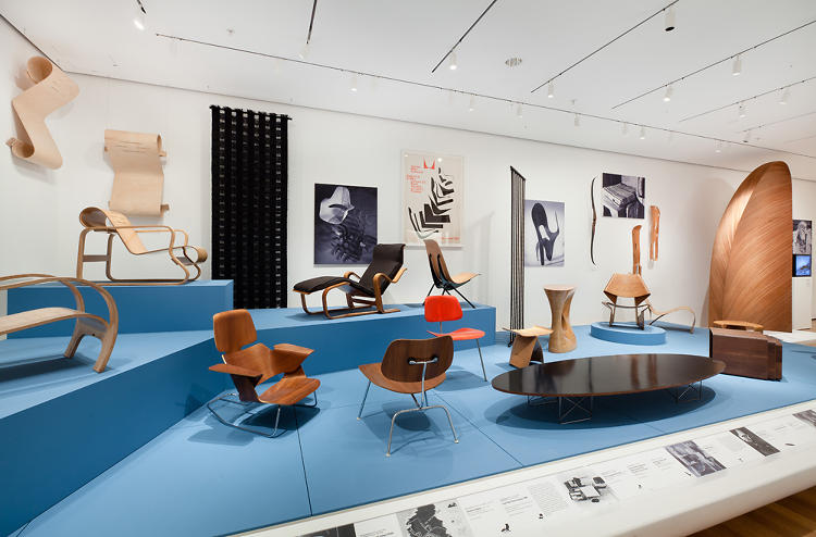 <p>An installation shot. Alvar Aalto's Paimio Chair is the one with the scroll-like curls directly above.</p>