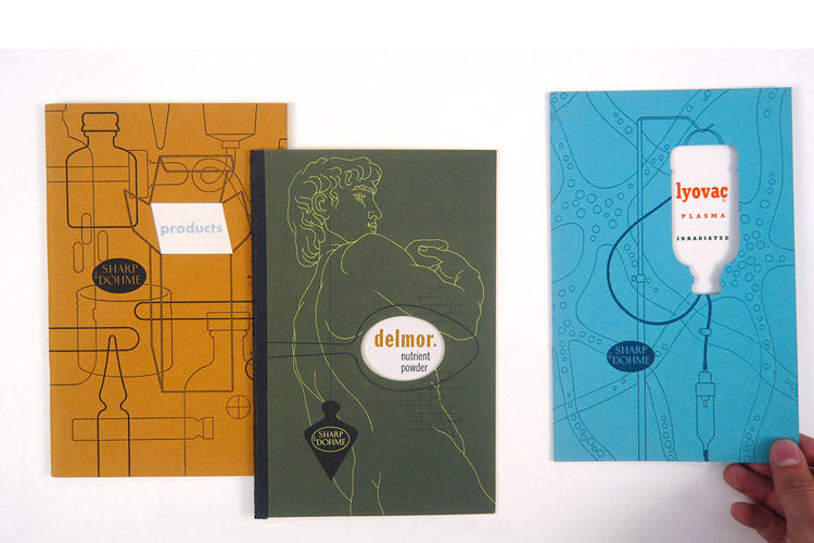 <p>Promotional booklets for Sharp &amp; Dohme, designed by Alexander Ross, 1940s</p>
