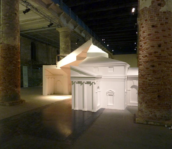 "<p>""Legally, I wonder who might be able to claim copyright of this work, or infringement of creative commons license in our appropriation of the file,"" he wonders of the massive foam model, which is on view in Venice until the end of the Biennale in November.</p>"