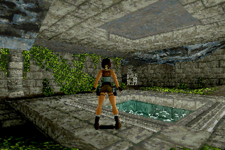 <p>Tomb Raider. Jeremy H. Smith, executive <br /> producer; Toby Gard, Heather Gibson, Neal Boyd, <br /> graphic artists; Jason Gosling, Paul Douglas, Gavin <br /> Rummery, programmers, SEGA Saturn, 1996.</p>