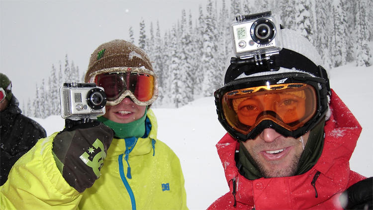 <p>The GoPro is designed expressly to be strapped to the body, for snapping pictures while the user is engaged in hair-raising activities.</p>